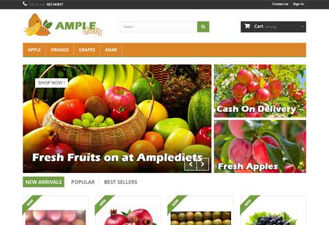 Fresh and hygenic fruits