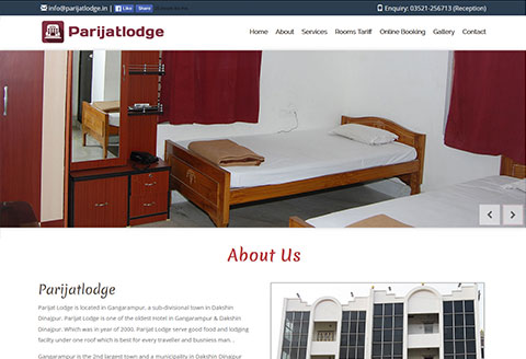 Hotel parijatlodge website