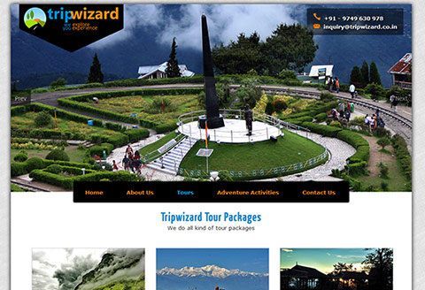 tour and travel website in siliguri
